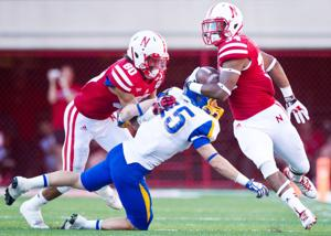 Husker receivers' block party sets up yards and wins; door prize later