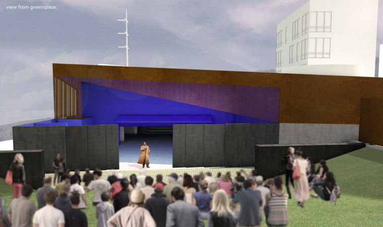 Kansas city firm 39 s design wins blue barn theatre green for Architecture firms omaha ne