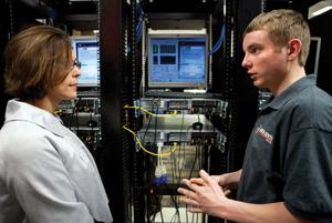 Students troubleshoot, problem-solve for Bluffs school district data center