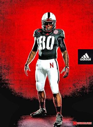 Huskers unveil alternate uniforms for UCLA game — with black jerseys