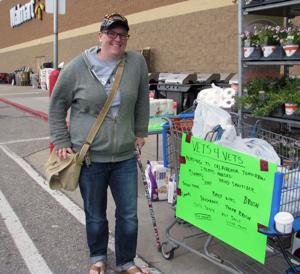 Group collecting tornado donations at Walmart