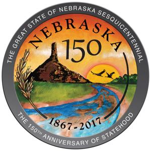 Nebraska group unveils state's 150th birthday seal