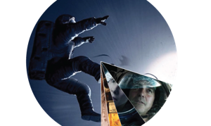 A pie chart movie review of 'Gravity'