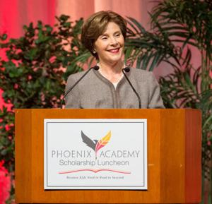 In Omaha, Laura Bush says today's children need a support system