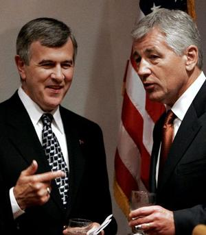 Johanns is second GOP senator to support Hagel
