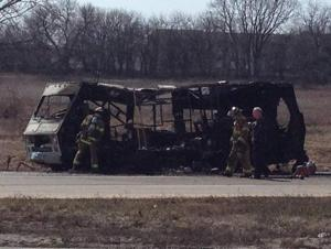 RV fire critically burns driver, shuts down Highway 370