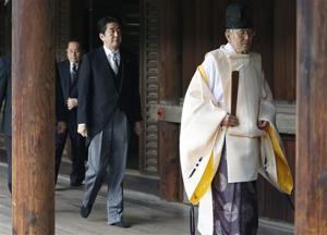Japanese PM visits war shrine, angering neighbors