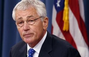 Chuck Hagel says U.S. military must shrink to face new era
