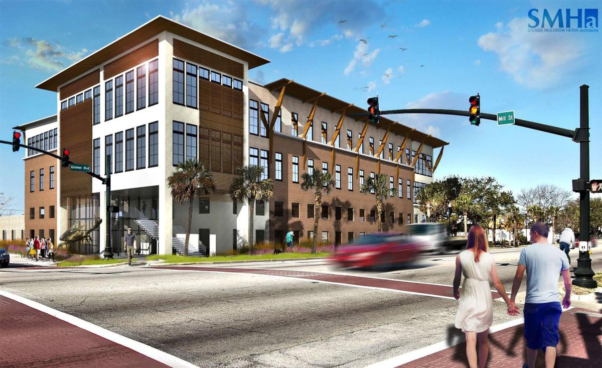 Developer submits design plans for office building and parking ...