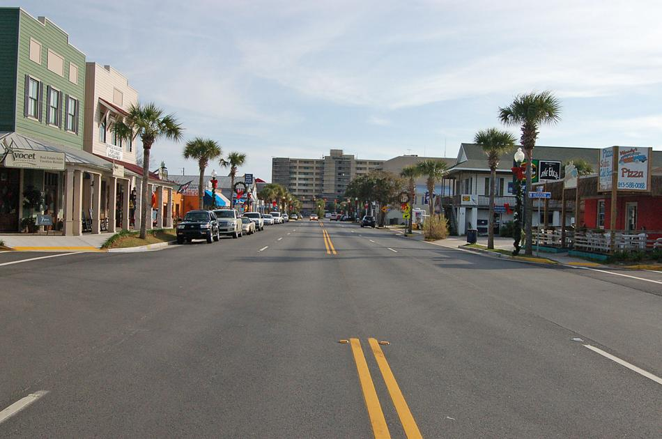 folly beach redesigns center street for safety traffic. Black Bedroom Furniture Sets. Home Design Ideas