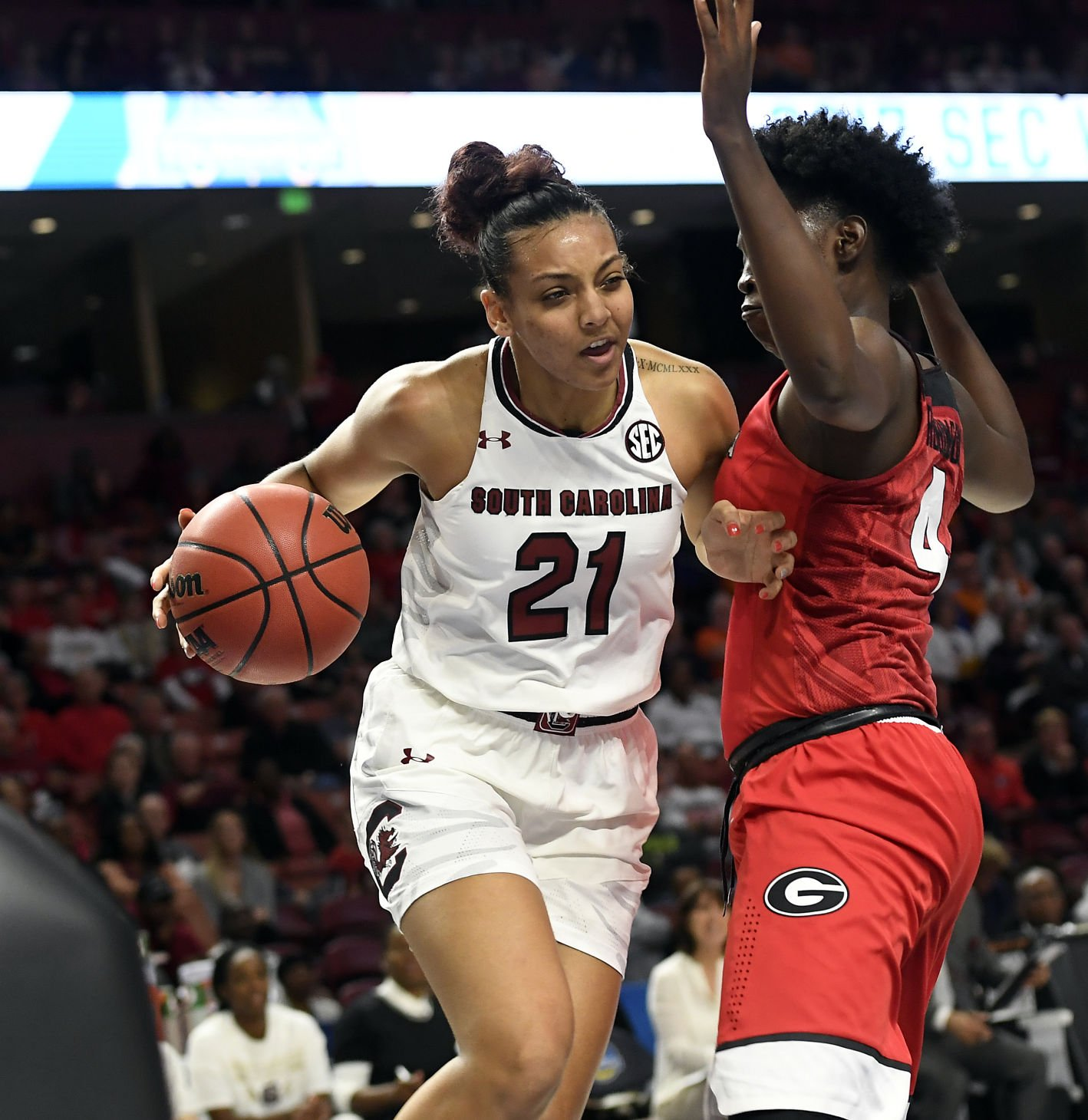 #5 SC cruises past Georgia into next round