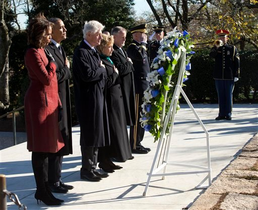 11/20/13 Barack Obama, Michelle Obama, Bill Clinton, Hillary Rodham Clinton