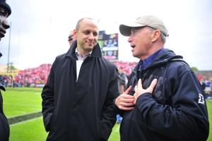 11/2/13 President Mitch Daniels with Seth Morales