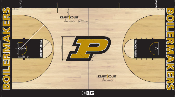 Athletics Department Releases New Keady Court Design