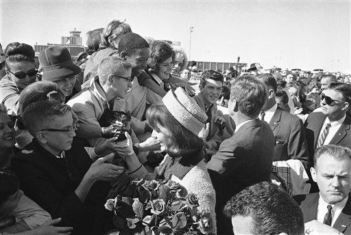 11/22/63 Jacqueline Kennedy, John F. Kennedy in Dallas
