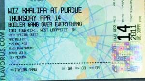 Wiz Khalifa Ticket