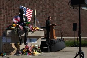 8/27/12 Neil Armstrong Memorial, Student Body President Joe Rust