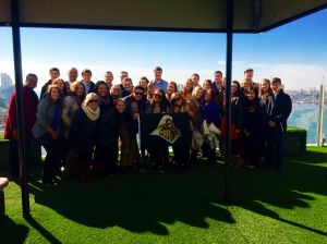 """<p>The Purdue chapter of <strong>AH&LA</strong> <span style=""""text-decoration: underline;"""">is pictured</span> in New York for their annual trip. The club is at the <strong>Standard Skyline</strong> in the <strong>Meatpacking District</strong> in New York City.</p>"""