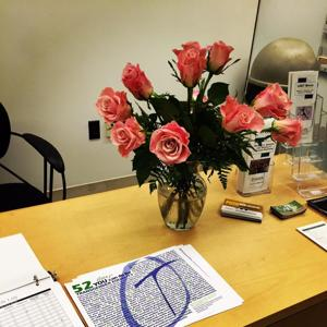 """<p>How are you celebrating today's historic news? A friend just brought the Center flowers! <a href=""""http://pic.twitter.com/B8dPbaBMA7"""" target=""""_blank"""">pic.twitter.com/B8dPbaBMA7</a></p><p>— Purdue LGBTQ Center (@purduelgbtq) June 26, 2015</p>"""