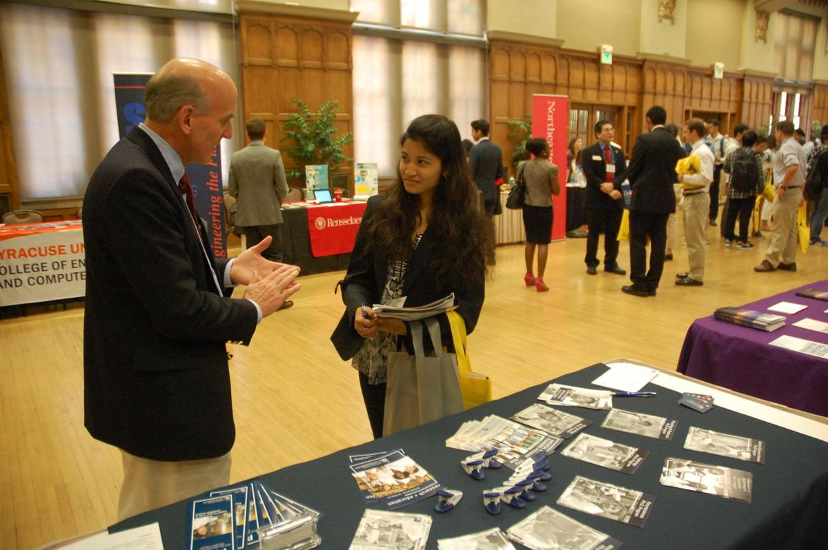 tips for career fairs campus purdueexponent org 9 22 2014 graduate school career fair paul macdonald aahana bajracharya