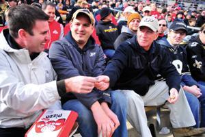 11/2/13 President Daniels in the fan section