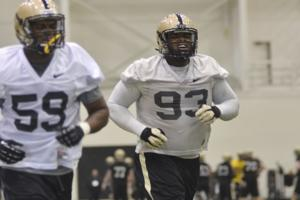 3/11/14 Spring football, Ra'Zhan Howard