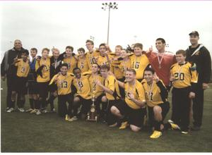 EM Christian soccer wins IACS state title