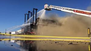 RAW VIDEO: Anchor Lumber Fire