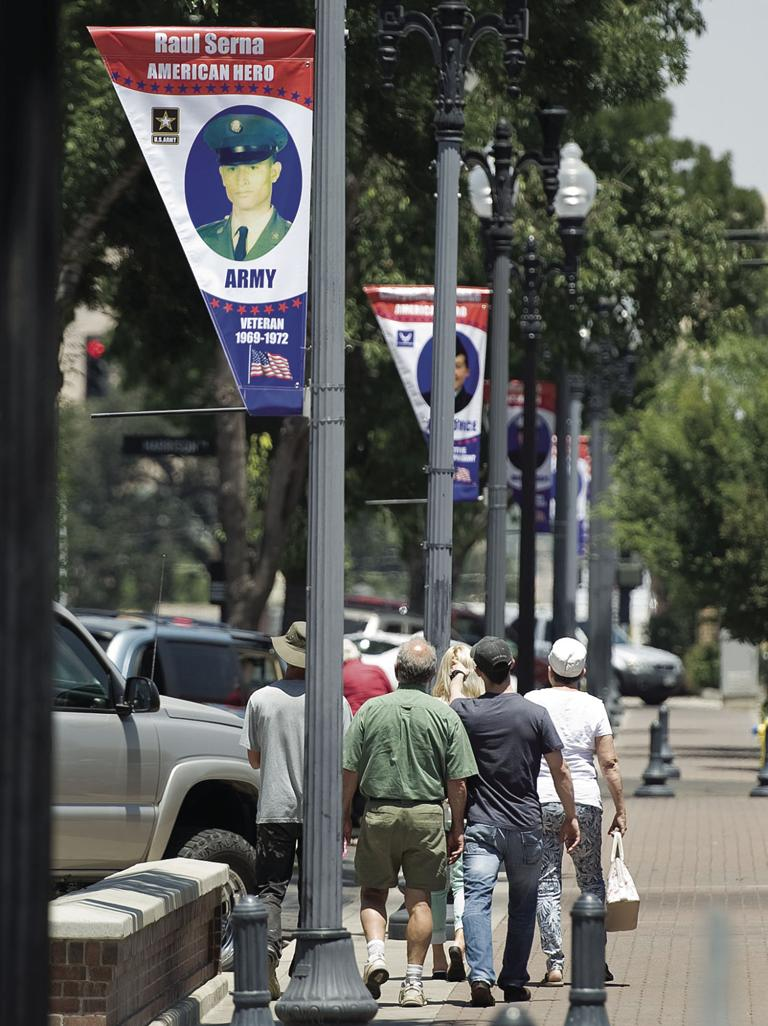 Banners honor those who serve