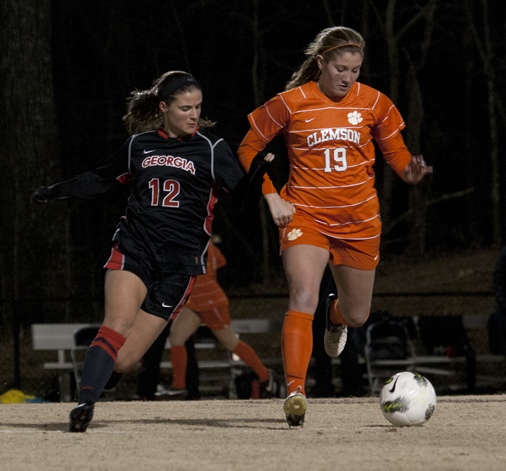 Clemson University Women's Club Soccer http://www.redandblack.com/featured/uga-women-s-soccer-vs-clemson/collection_897d4354-83d1-11e2-b9c1-0019bb30f31a.html