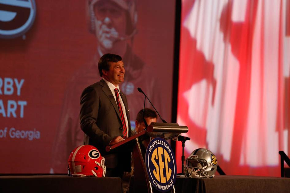 Media Days: Georgia head coach Kirby Smart shines under spotlight