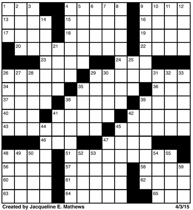 Crossword April 3 Puzzles