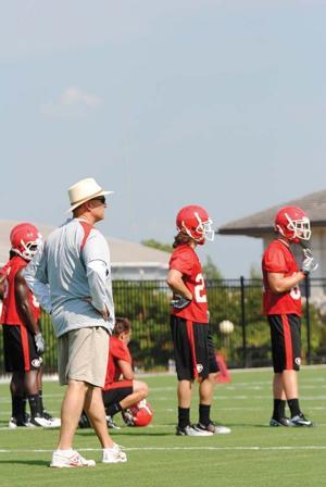 Coach Richt Practice