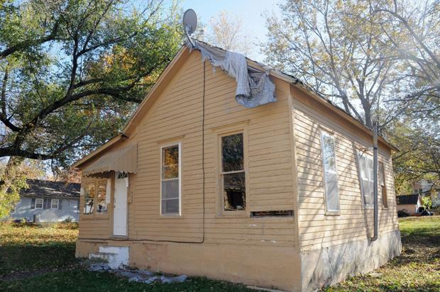 Vacant home declared dangerous structure