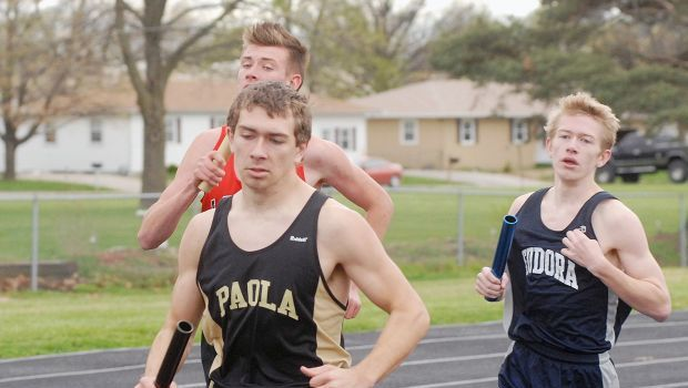 Paola Panthers runner-up in home track and field meet