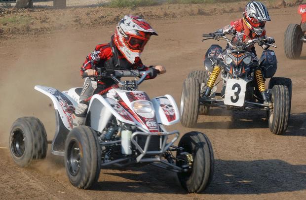 ATV racer rides at fair for a cause