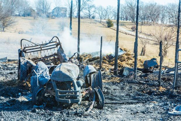 Firefighters respond to barn, house fires