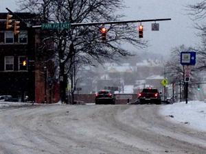 Roads quickly accumulating snow
