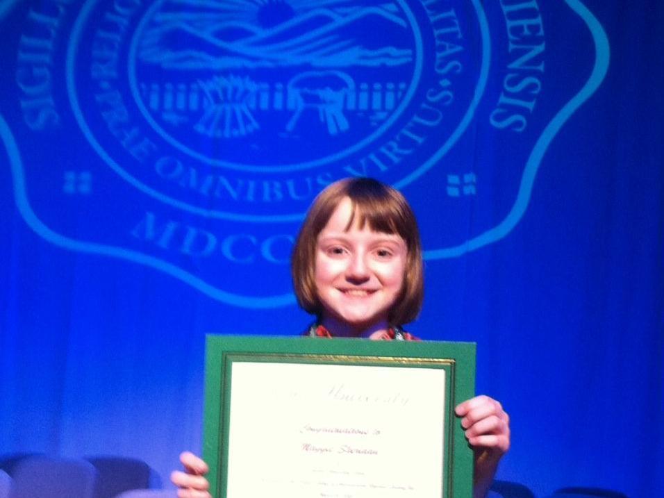Lexington's Maggie Sheridan ties for second place in regional spelling bee