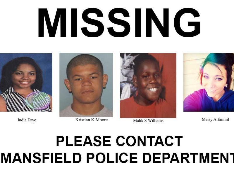 Mansfield Police seek public's help in finding 4 juvenile runaways