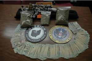 Items confiscated during a METRICH drug sweep