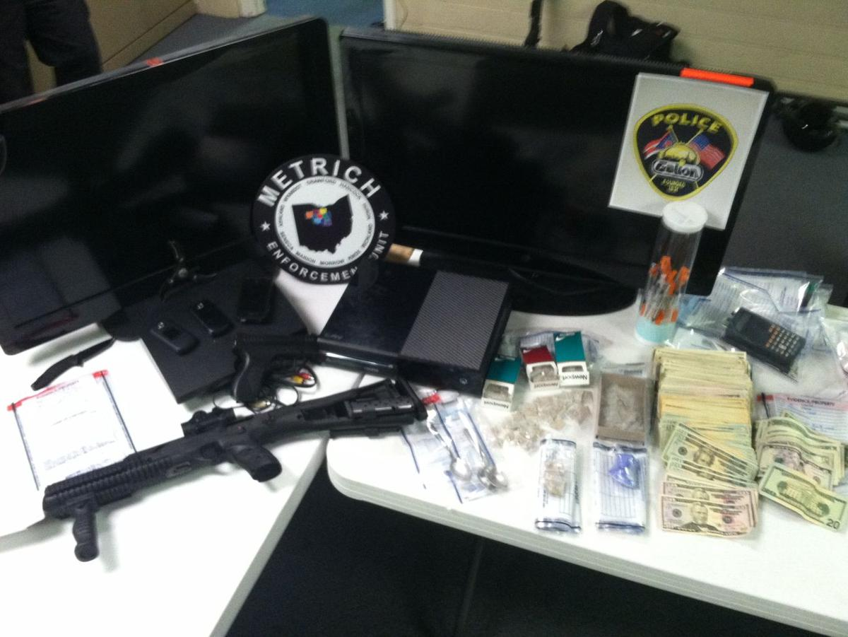 Galion search warrant nets drugs, weapons and money