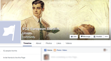 "<p>A screenshot of the ""VCU European Student Union"" page.</p>"