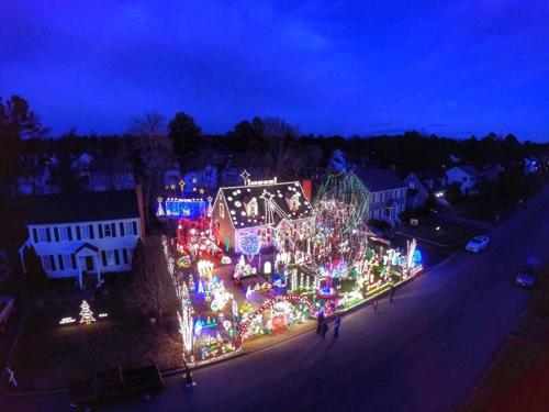 Man uses drone to capture tacky lights in Richmond