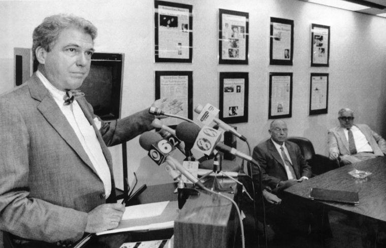 J. Stewart Bryan III news conference, 1991