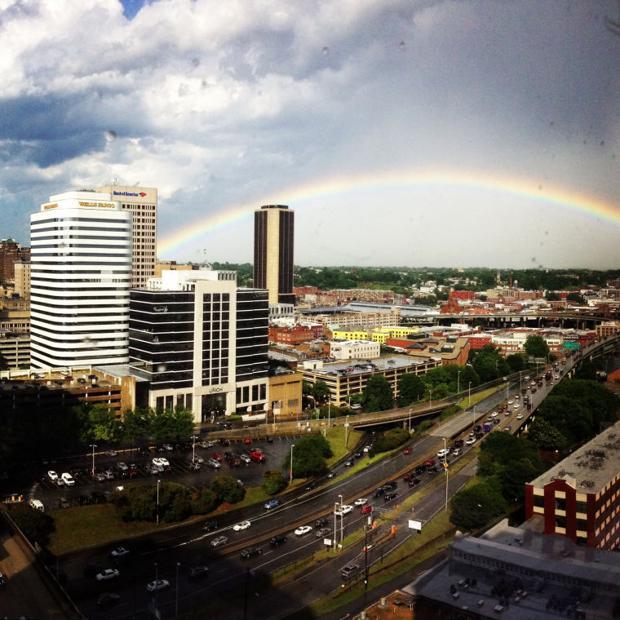 Rainbow over Richmond