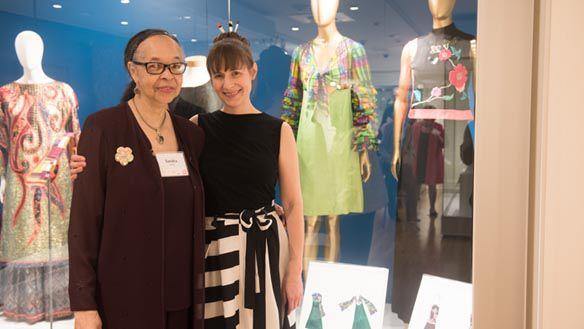 Sandra Kemp garments on display at The Valentine