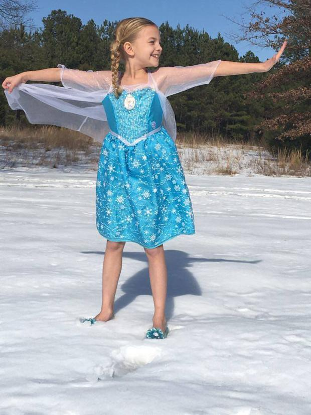 Kendra McNew, 8...dressed as Elsa from Frozen