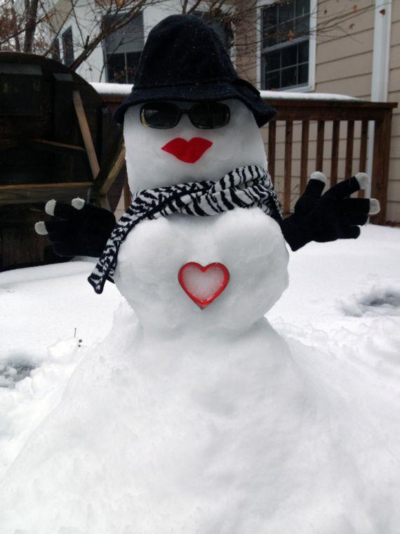 Valentine Snow Woman 2014