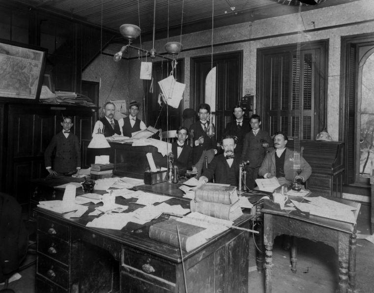 Richmond Times-Dispatch newsroom, 1897